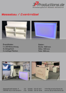 Eventmöbel und Messemöbel im Katalog zum Download - 3P Productions