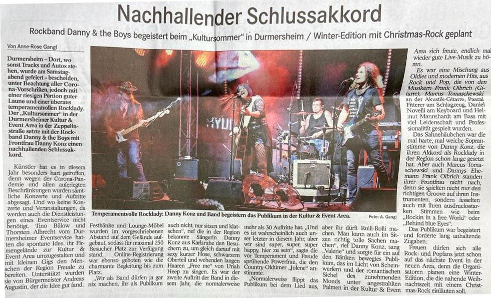 Danny & The Boys - we-rock-durmersheim - 3p productions