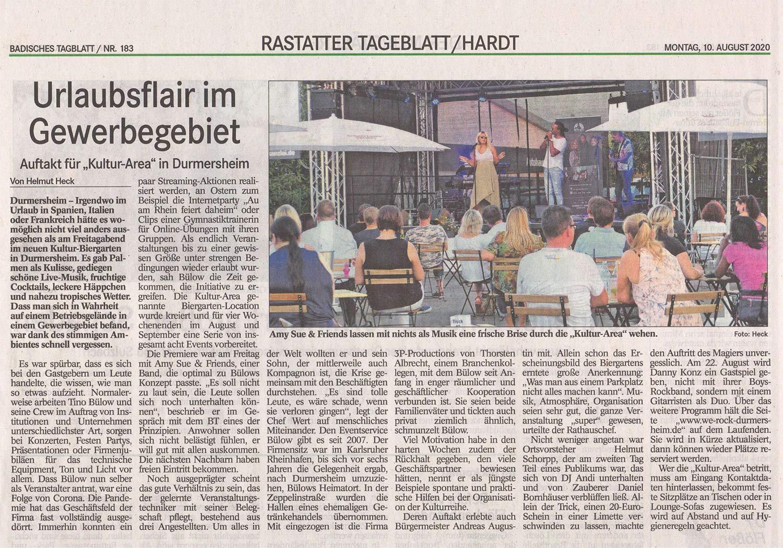 Auftakt Amy Sue & Friends - we-rock-durmersheim - 3p productions
