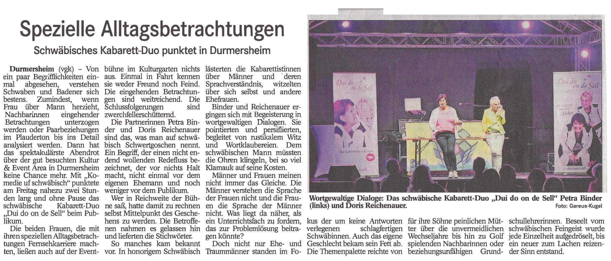Kabarett-Duo - dui do on de sell - we-rock-durmersheim - 3p productions