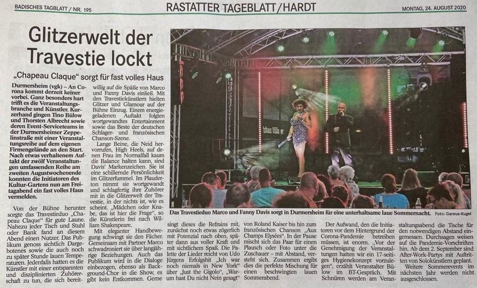 Travestie Duo Chapeau-Claque - we-rock-durmersheim - 3p productions